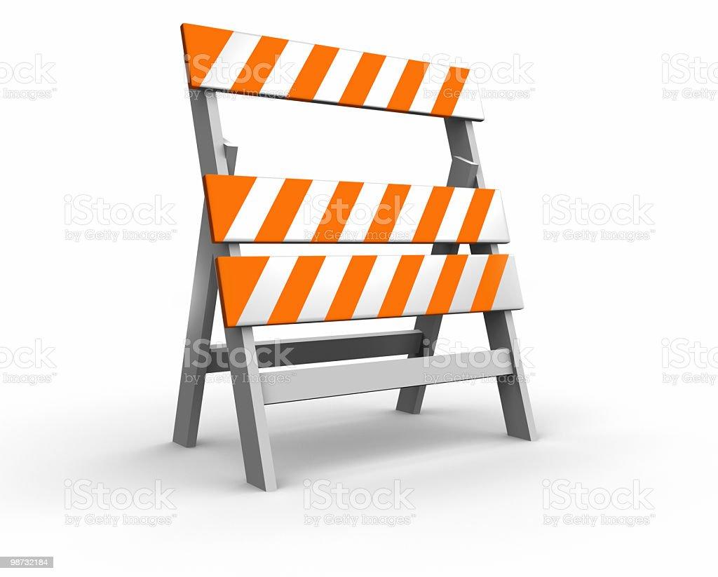 Barrière de chantier photo libre de droits