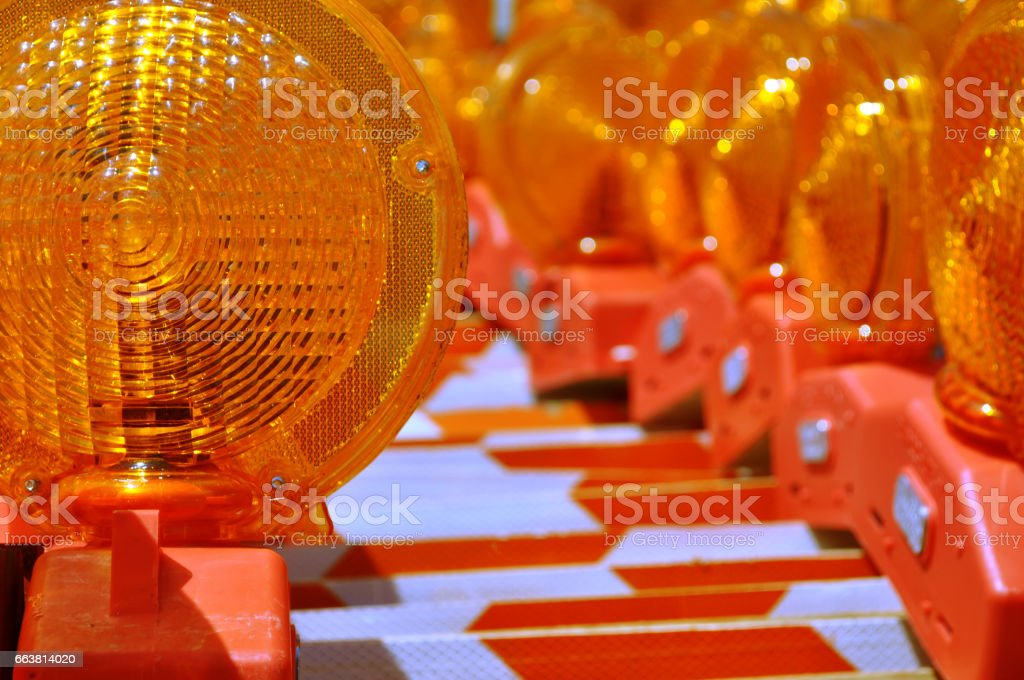 construction barriers stock photo