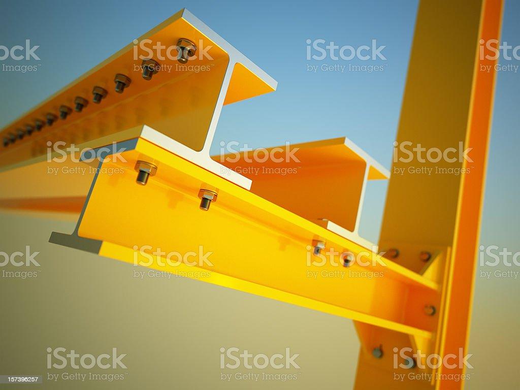 construction beam stock photo
