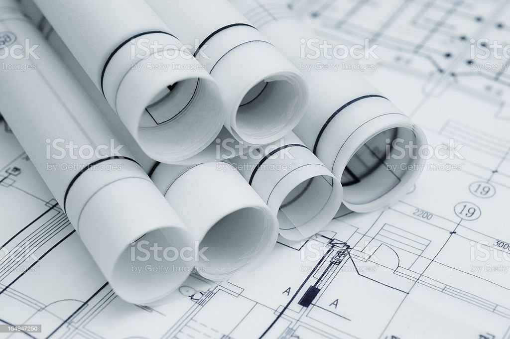 Construction Blueprint- Architecture Business royalty-free stock photo