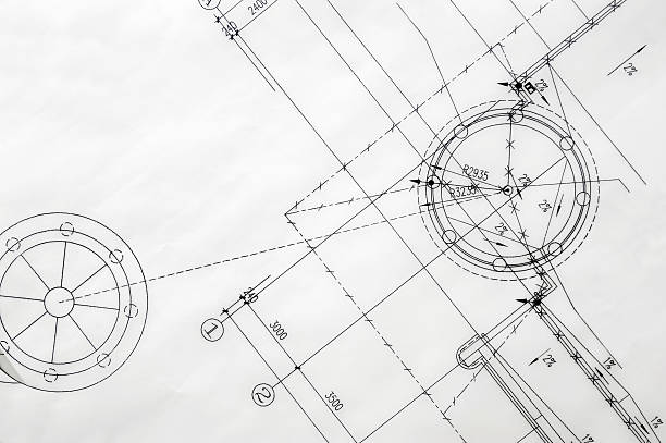 construction blueprint - sketch stock photos and pictures