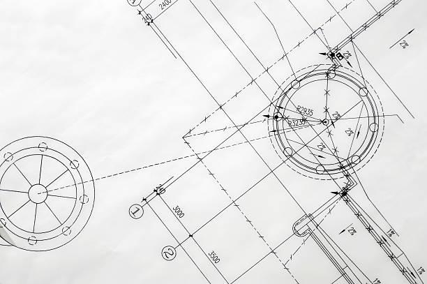 Construction Blueprint stock photo