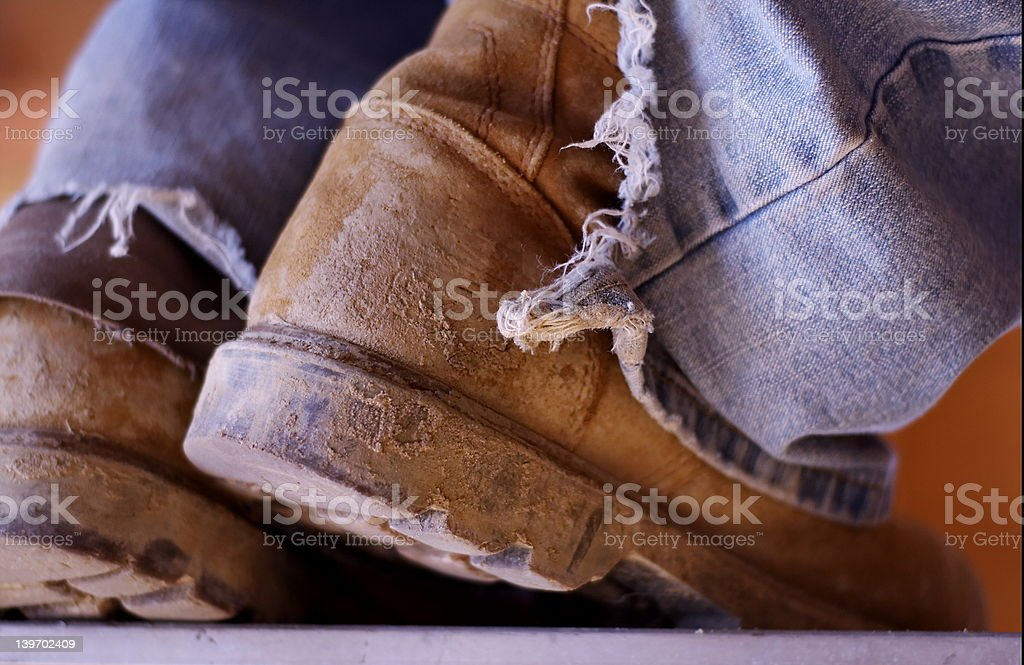 Construction Boots royalty-free stock photo