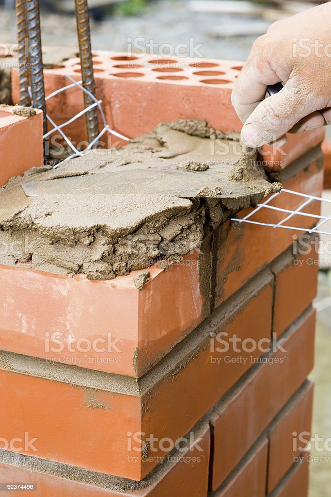 Construction. Bricklayer royalty-free stock photo