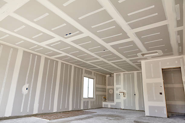 Construction building industry drywall taping compound finishing - Photo