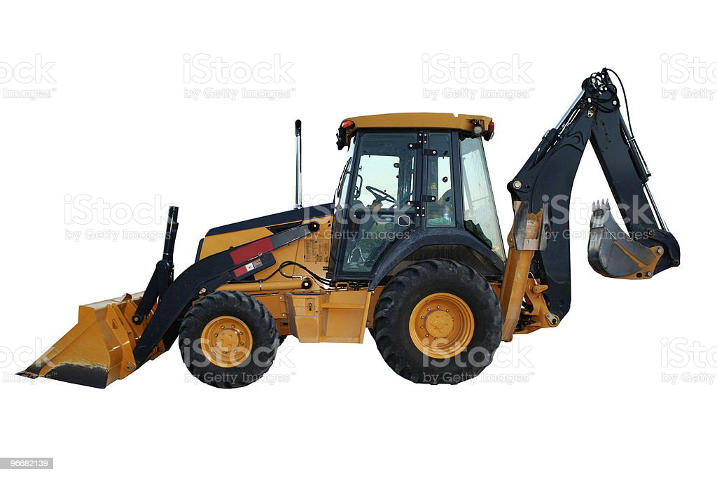 Construction Bulldozer Tractor Excavator stock photo