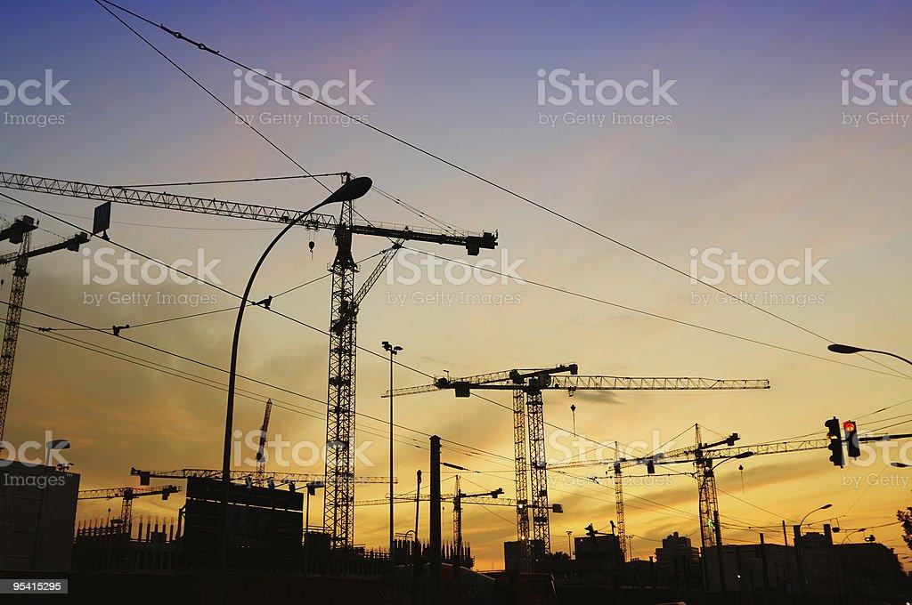 Konstruktion chaos in der Dämmerung Lizenzfreies stock-foto