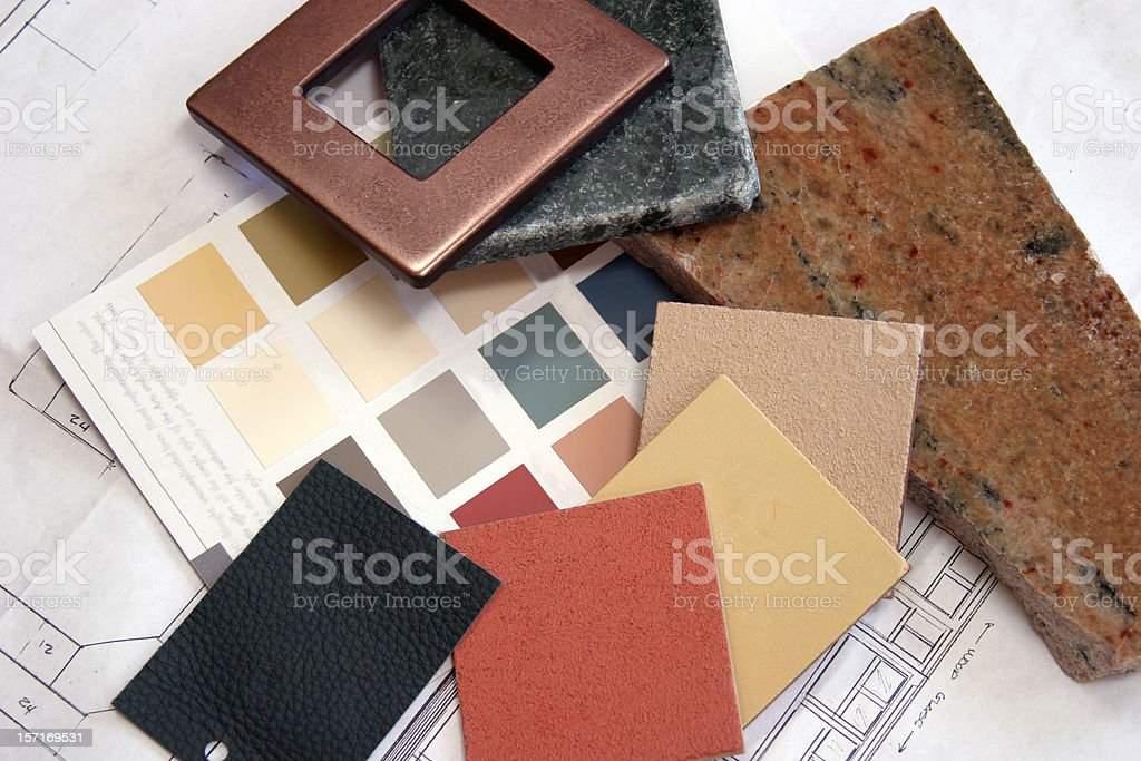 Construction - Color Samples 2 royalty-free stock photo