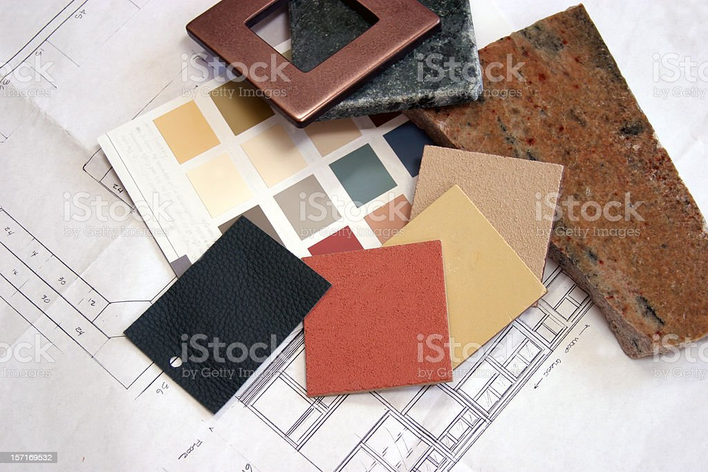Construction - Color Samples 3 stock photo