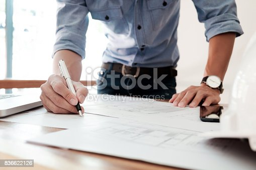 istock Construction concept of  Engineering. 836622126