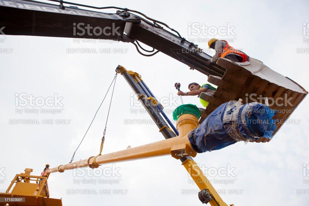 Construction: Concrete Batching Plant stock photo