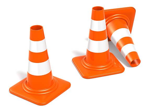 Construction Cones stock photo