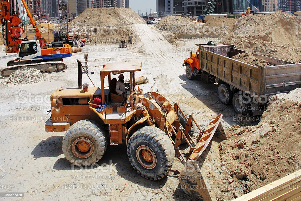 Construction continues unabated in Doha stock photo