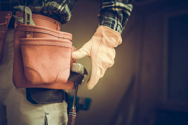 construction contractor belt - tool belt stock photos and pictures