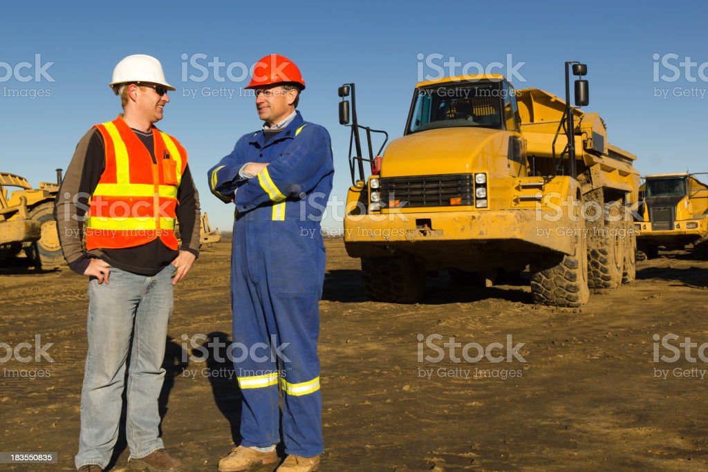 Construction Conversation royalty-free stock photo
