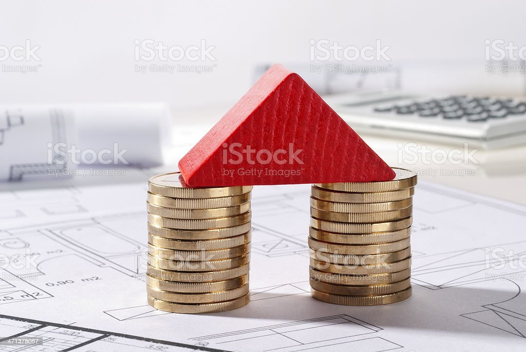 Construction costs stock photo
