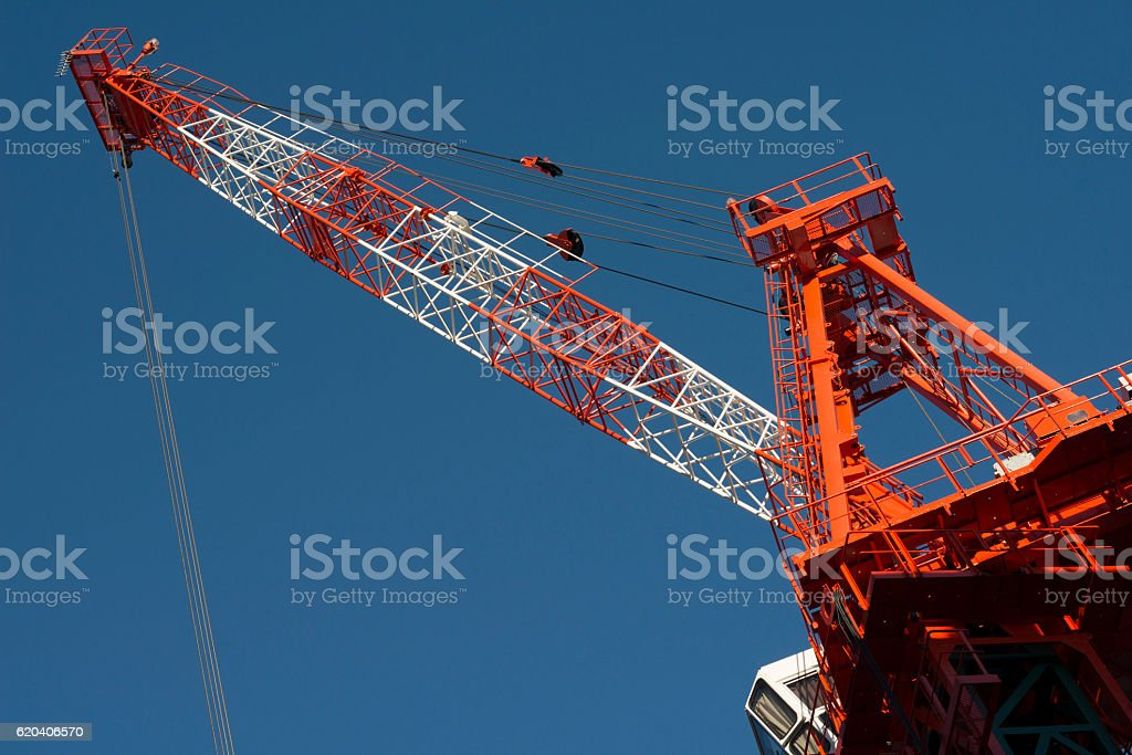 Construction crane at building site royalty-free stock photo