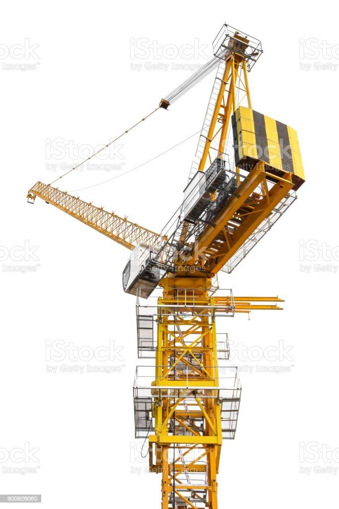 Construction crane isolated stock photo