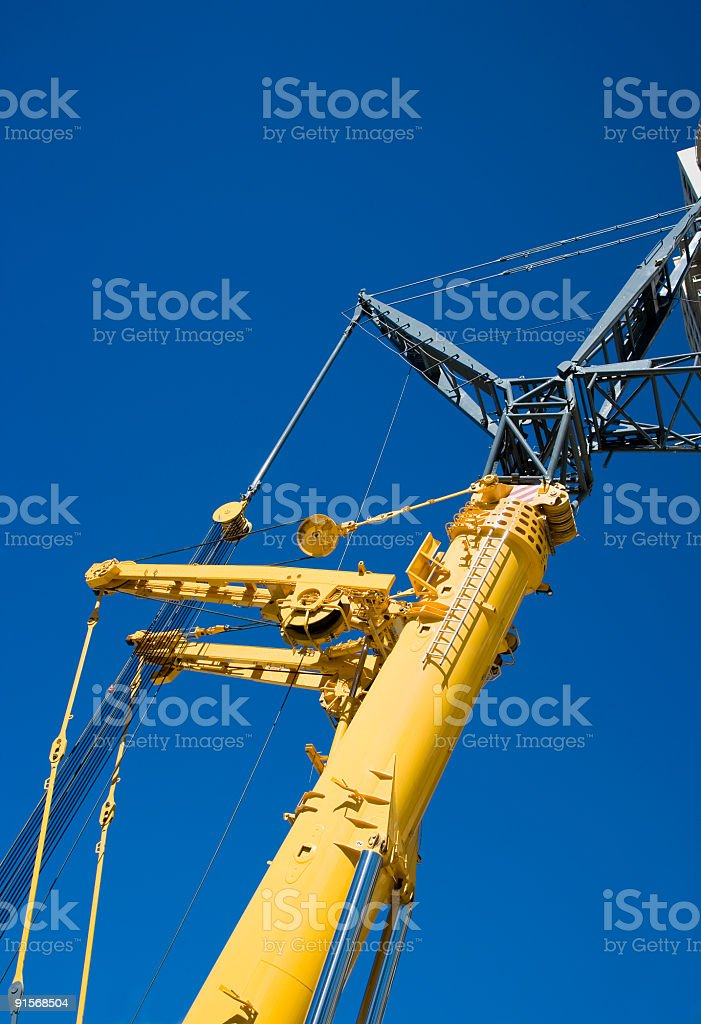 Construction Crane Section royalty-free stock photo