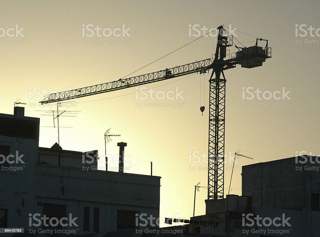 Construction Crane Silhouette royalty-free stock photo