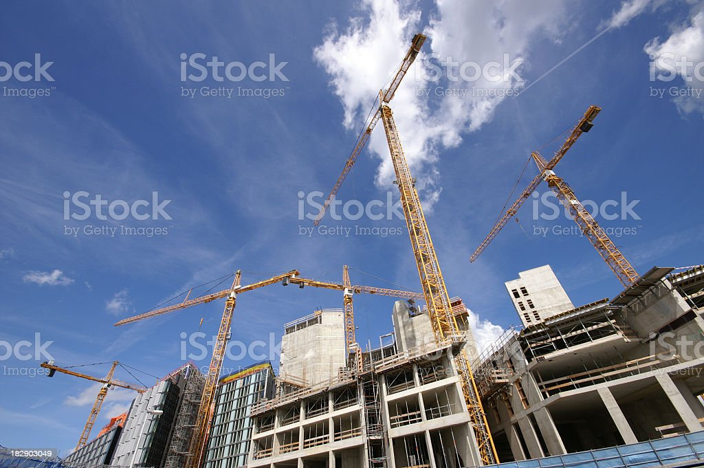 Construction Cranes royalty-free stock photo