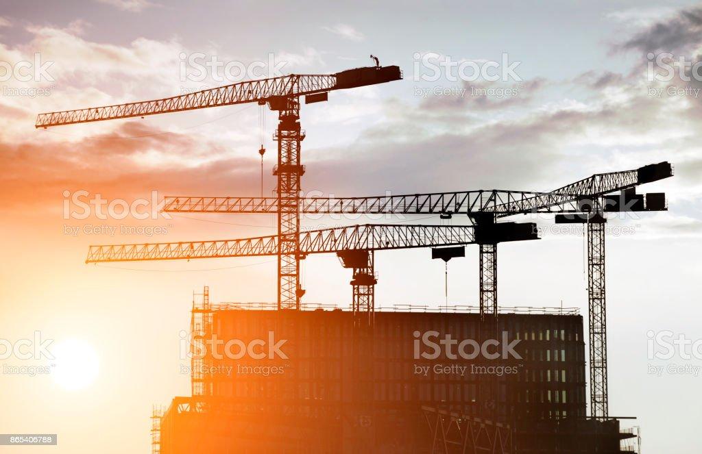 Konstruktion der cranes  – Foto