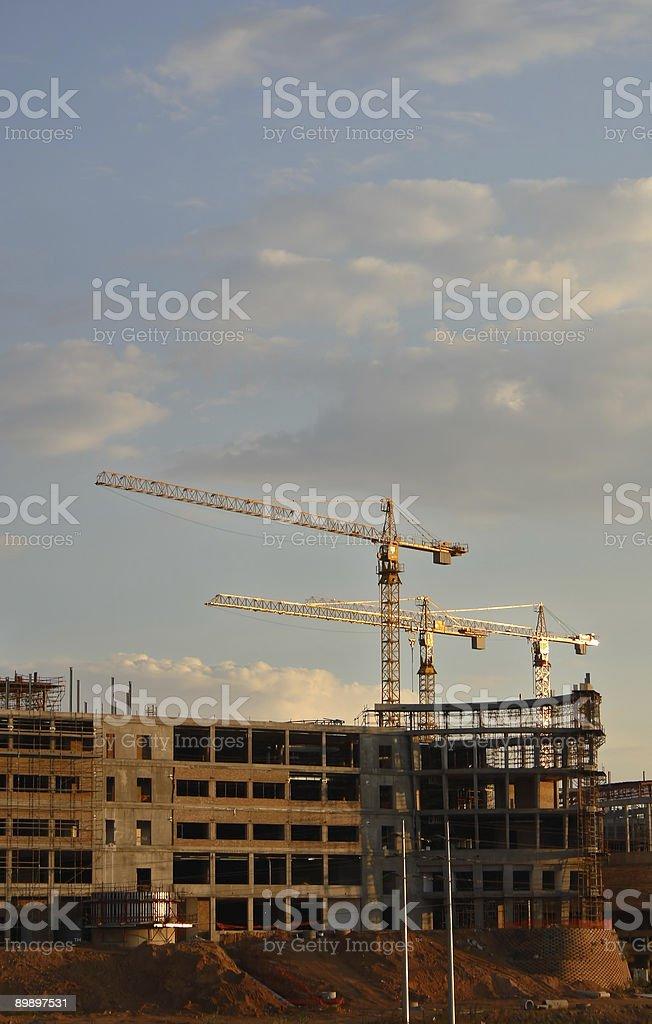 Konstruktion Cranes#1 Lizenzfreies stock-foto