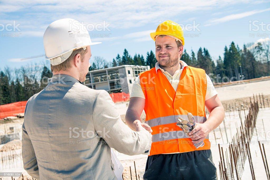 Construction deal stock photo