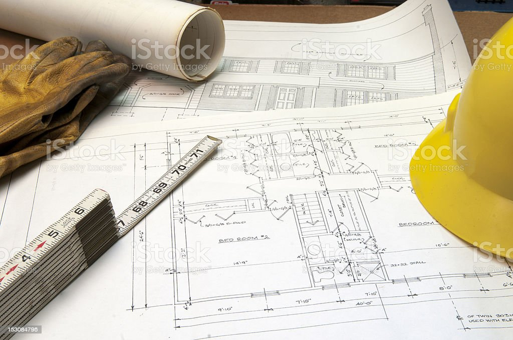 Construction Drawings royalty-free stock photo