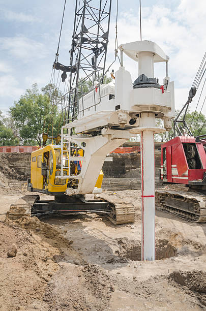 construction drilling machine - pillar drill stock photos and pictures