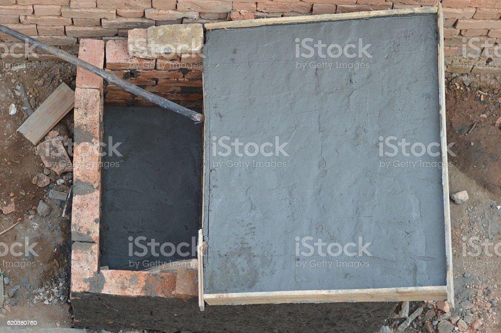 Construction d'un lavoir zbiór zdjęć royalty-free