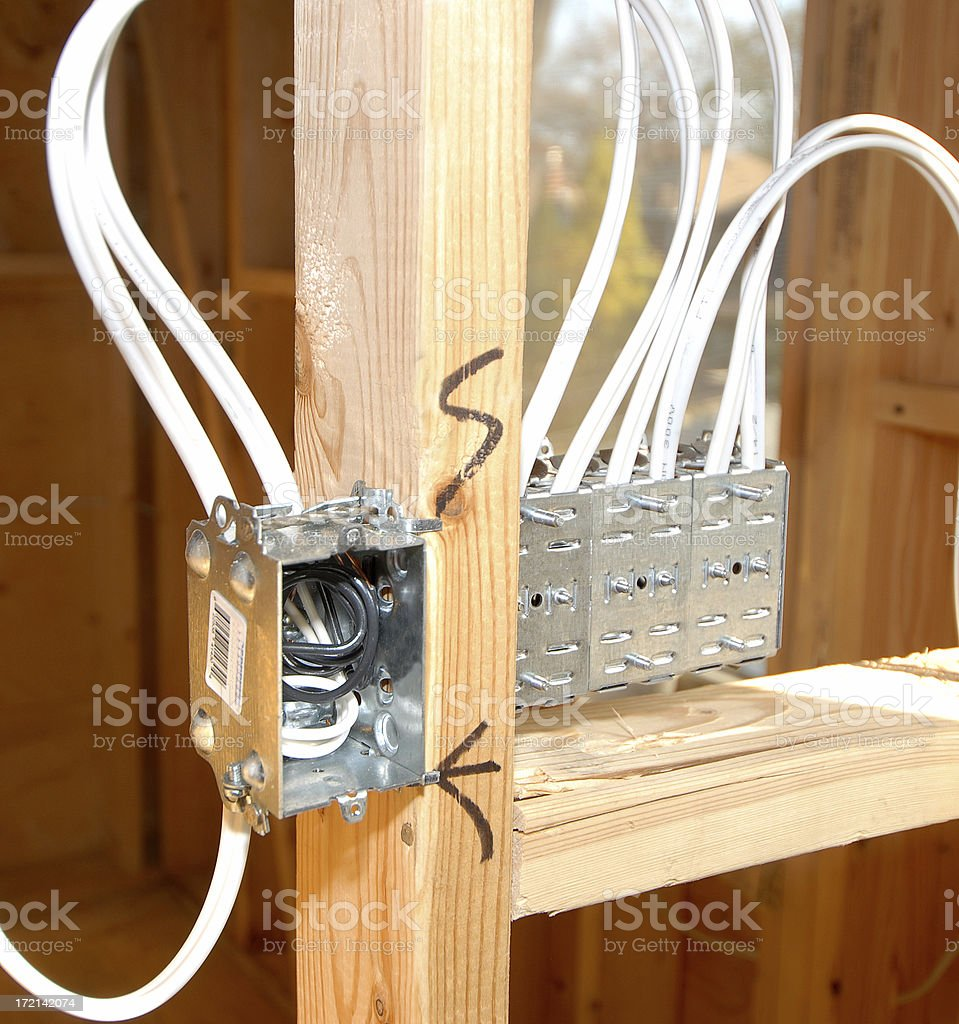 construction- electrical works royalty-free stock photo