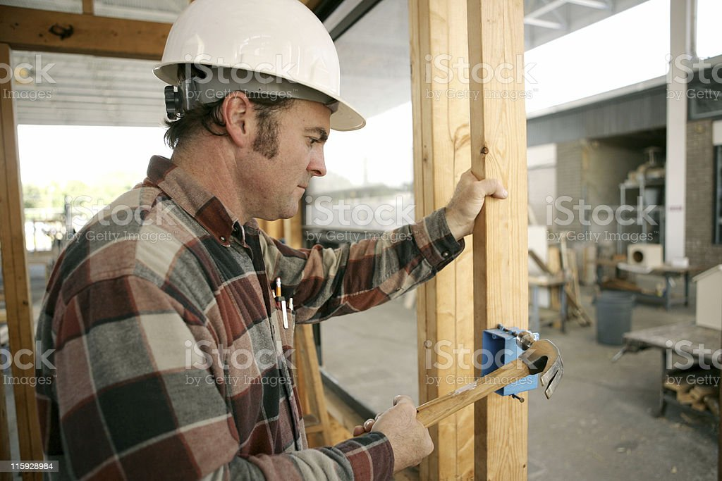 Construction Electrician royalty-free stock photo