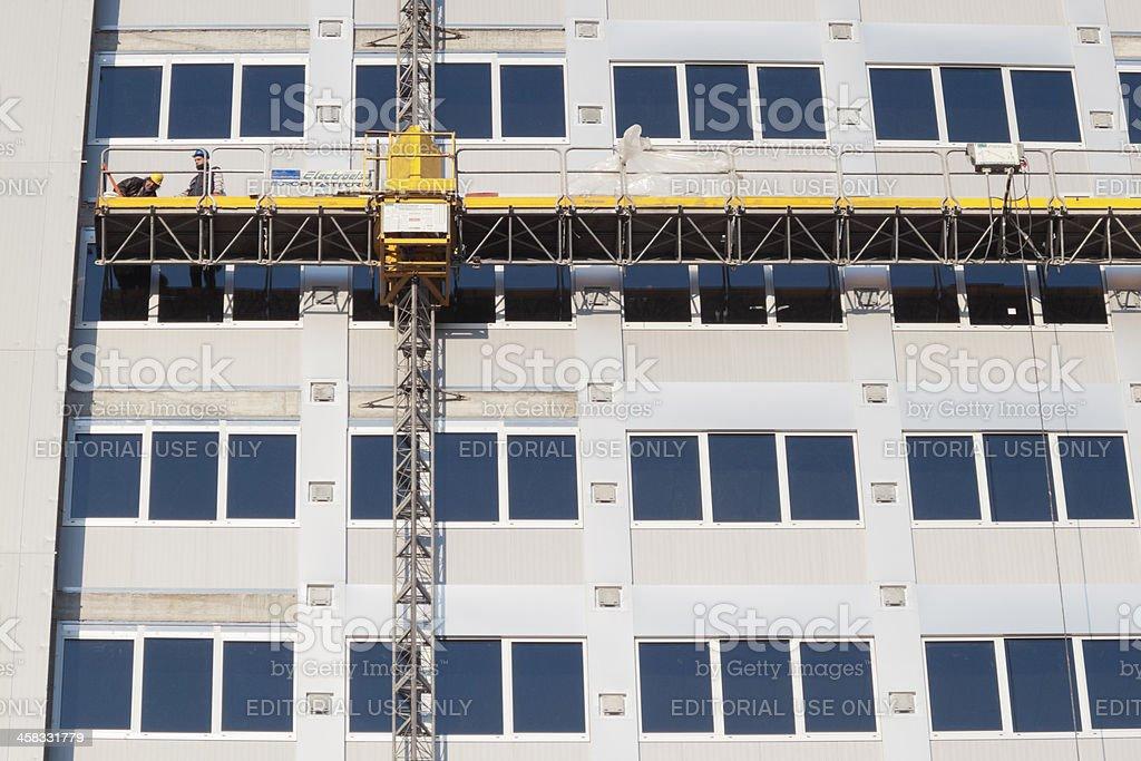 Construction elevator royalty-free stock photo