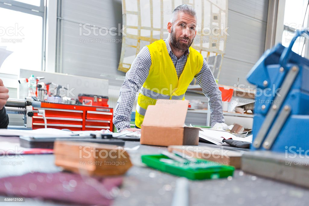 Construction engineer at work Construction engineer at work.  Adult Stock Photo
