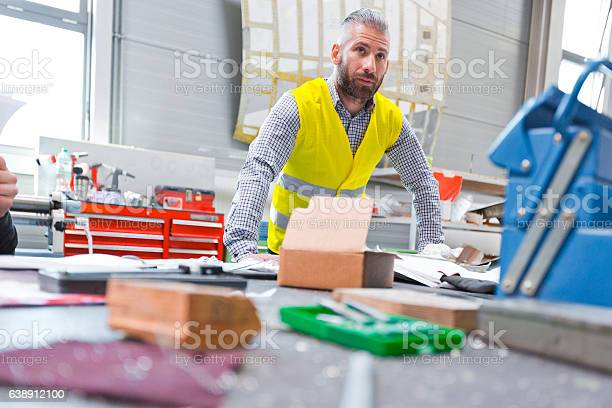 Construction Engineer At Work Stock Photo - Download Image Now