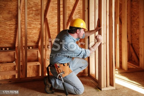 istock Construction engineer measurement 172170753