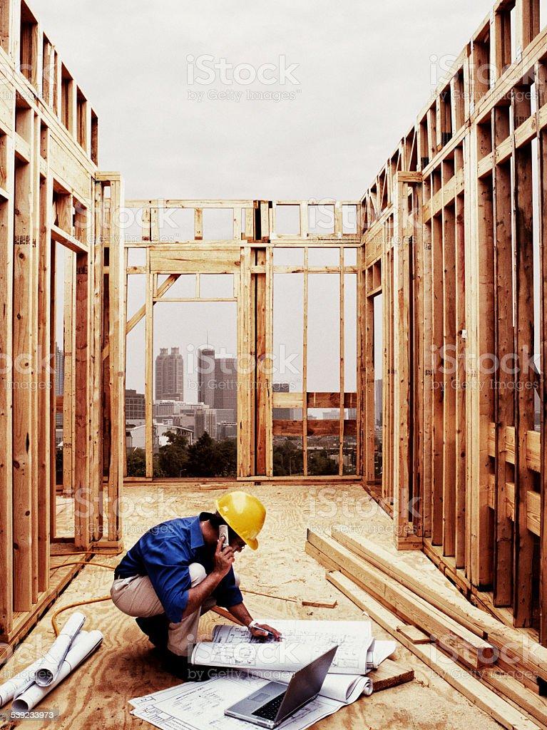 Ingeniero de construcción foto de stock libre de derechos
