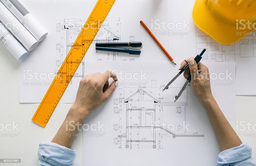 Construction engineer working on project – Foto
