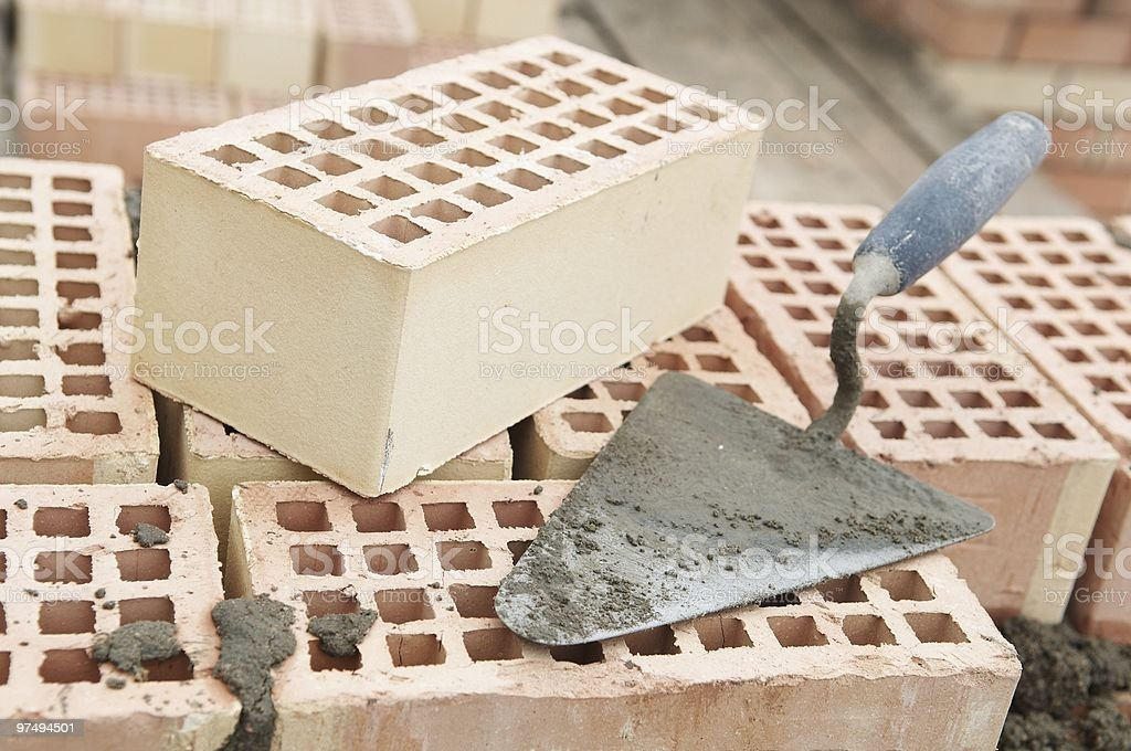 construction equipment for bricklayer royalty-free stock photo