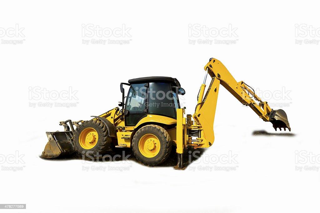 Construction Equipment isolated stock photo
