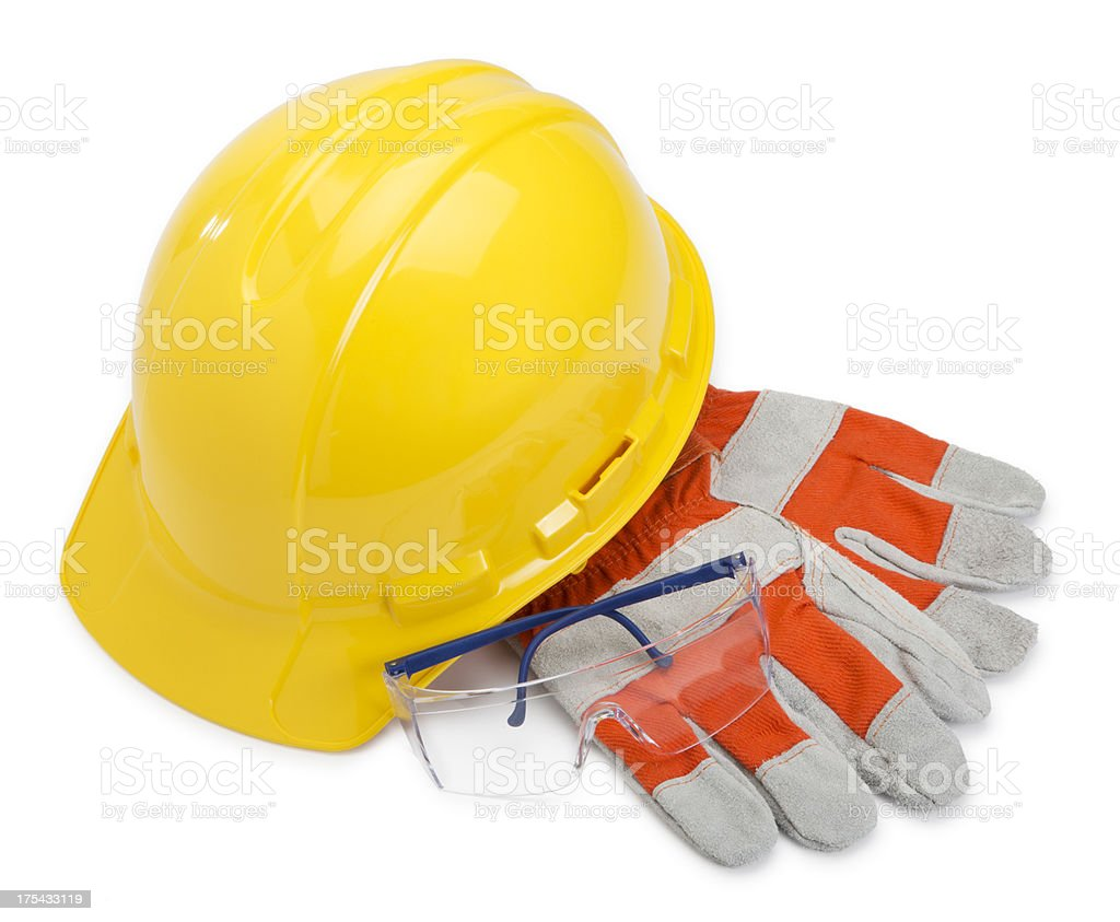 Construction Equipment on White stock photo
