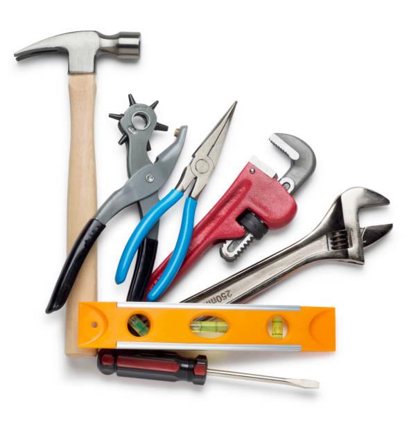 Construction Equipment on White - Stock image stock photo stock photo