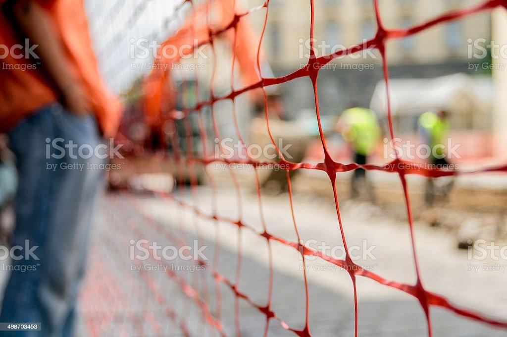construction fence stock photo