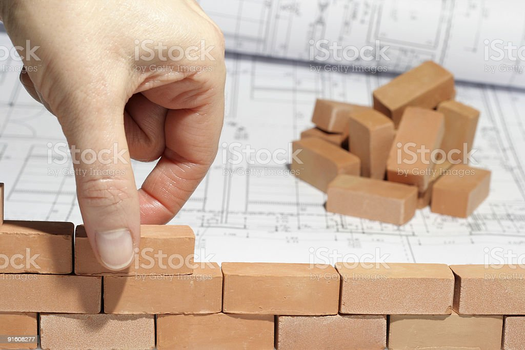 construction: finding ideas and build up for a new home royalty-free stock photo