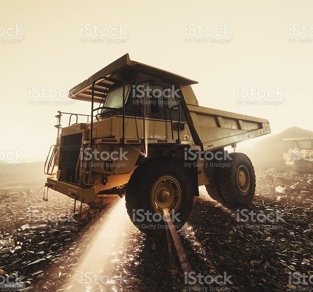 Construction Fog stock photo