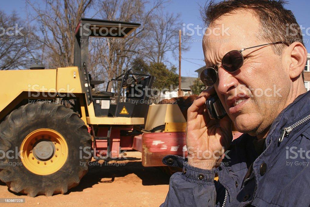 Construction Foreman stock photo