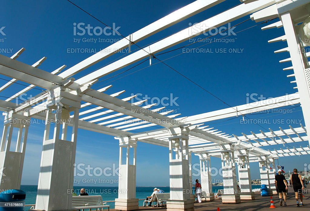 Construction Frame on Promenade des Anglais royalty-free stock photo
