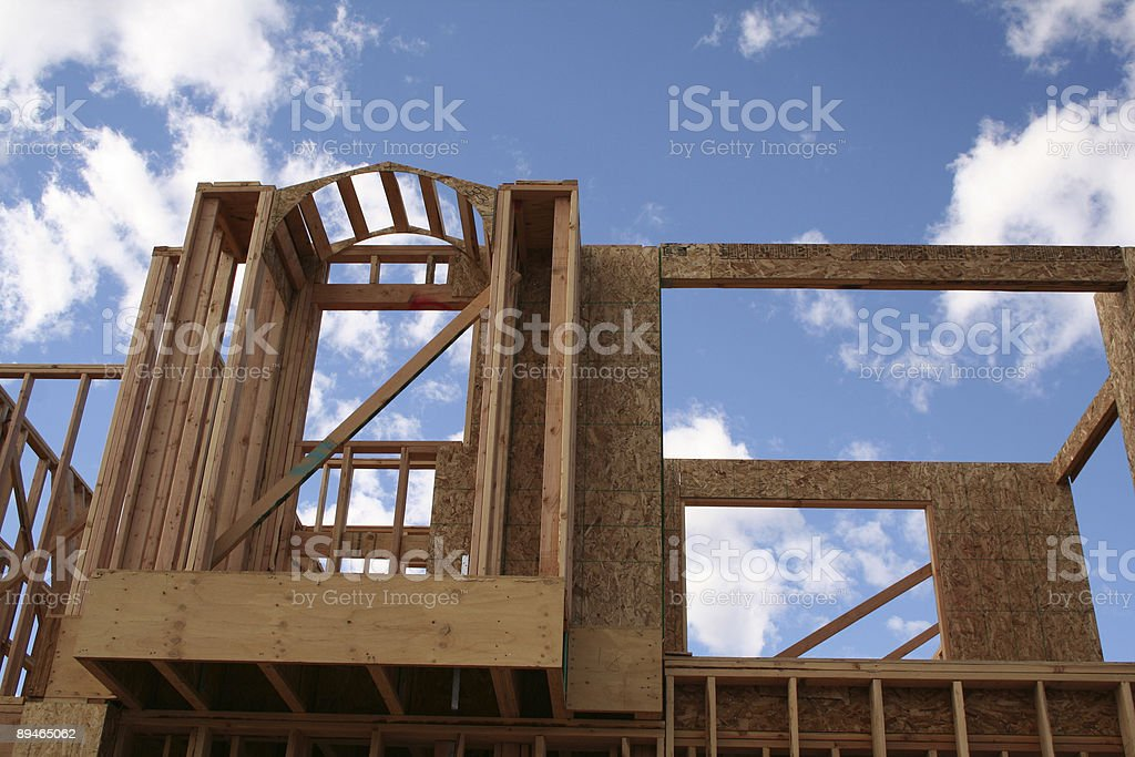 Construction frame royalty-free stock photo