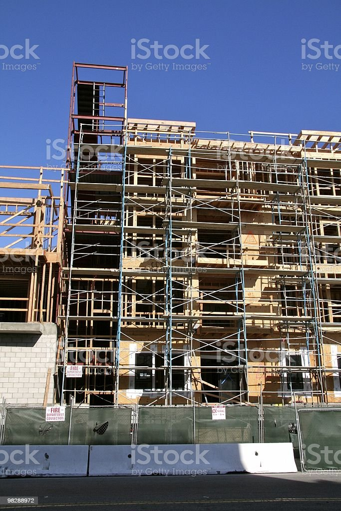 Construction, framing, apartment building royalty-free stock photo